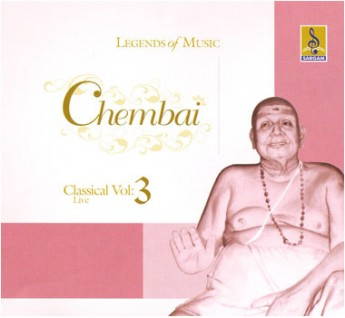 CHEMBAI CLASSICAL VOCAL VOL 3- Audio CD